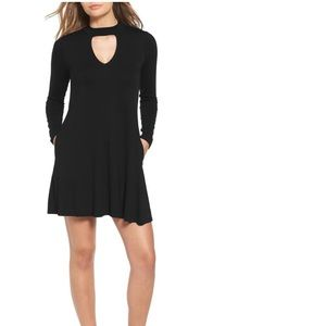 Socialite Mock Neck Shift Dress